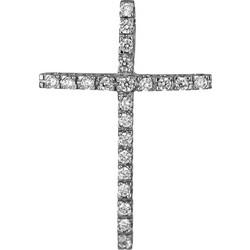 Σταυροί Βάπτισης - Αρραβώνα Λευκόχρυσος πετράτος σταυρός 14Κ 006234 006234  Γυναικείο Χρυσός 14 Καράτια bf59cf24fde