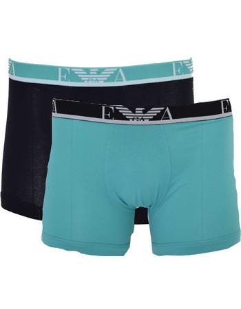 Boxer με μακρύ πόδι 2 pack Emporio Armani EA7 1112687P715 - βεραμάν-μαύρο cc26ce51b1a