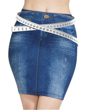 Φούστα Τζιν ελαστική χωρίς κουμπιά Trim n Slim Skirt 298272ec539