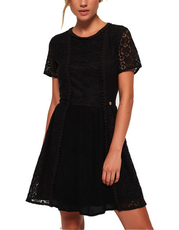SUPERDRY Γυναικείο Φόρεμα ELLA LACE PANELLING DRESS (G80002RR-02A) c1897ef71cc