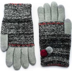 Μαύρα Πλεκτά Γάντια Γυναικεία Με Διπλό Πον Πον 92a696c65e6
