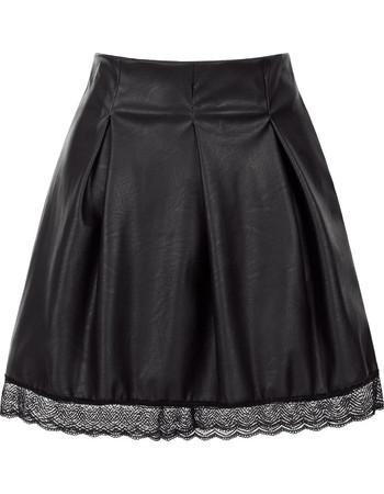 Mini φούστα δερματίνης με δαντέλα SE7835.2538+1 223d373d131
