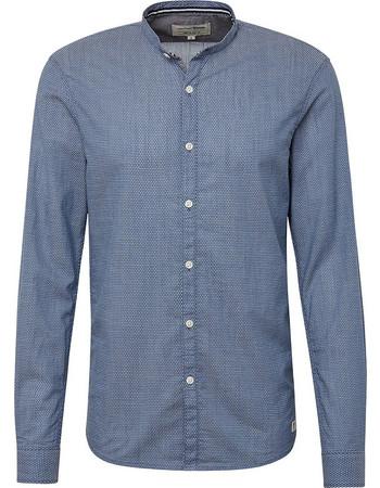 TOM TAILOR ανδρικό πουκάμισο με γιακά μαο - 1008330 - Μπλε Ανοιχτό d7db44ac75c