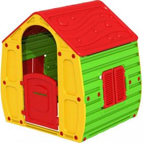 f398802aab1b Παιδικό Σπιτάκι Κήπου 102x90x109cm Magical House Πράσινο-Κίτρινο με Κόκκινη  Σκεπή STARPLAY