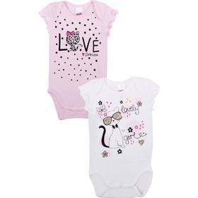 a7802bff738 Minervakia Βρεφικό Φορμάκι Κορίτσι Zappone Love- Διπλό Πακέτο Λευκό-Ροζ