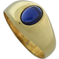 Ανδρικό δαχτυλίδι χρυσό 14 καράτια με μπλε πέτρα 89b583c26c9