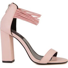 Πέδιλα ροζ σουέτ δερματίνη με λαστιχένια μπαρέτα και χοντρό τακούνι  302190pink. Tsoukalas Shoes a05bb1be335