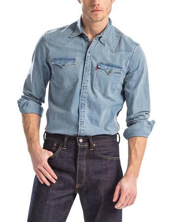 Levis BARSTOW WESTERN BROOKLYN STRETCH LIGHT Ανδρικό T-shirt 65816-0253 1ce3dc03631