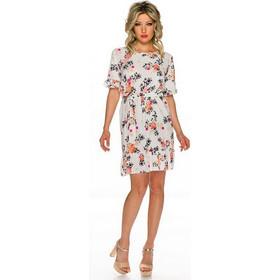 0ed3c486d0ea 52542 QN Αέρινο μίνι φόρεμα με λουλούδια - άσπρο