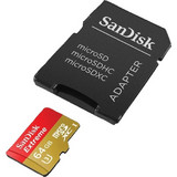 Sandisk 64GB microSDXC Extreme 90MB Class 10 + Adapter