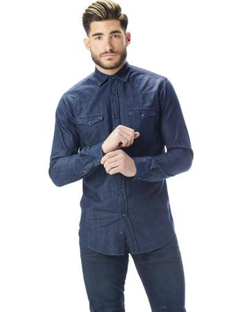 PAPILIO GARAMAS jean πουκάμισο PGH-100 02 μπλε c6dc9891665