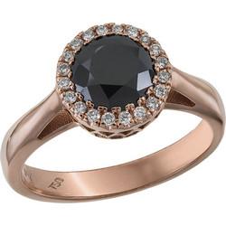 Ροζέτα δαχτυλίδι με μαύρο διαμάντι Κ18 031448 031448 Χρυσός 18 Καράτια fd675cdf525