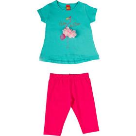 a338c4613dd Σετ με κάπρι κολάν και μπλούζα flamingo (Τυρκουάζ). TraX