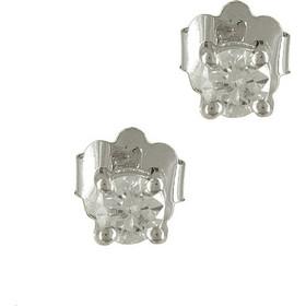 Λευκόχρυσα Μονόπετρα Σκουλαρίκια με Διαμάντια Brilliant Κ18 E5324 6f88ab14ceb