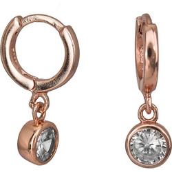 Σκουλαρίκια ροζ επιχρυσωμένα 925 με λευκή ζιργκόν 026895 026895 Ασήμι 0d8b21ab3d2