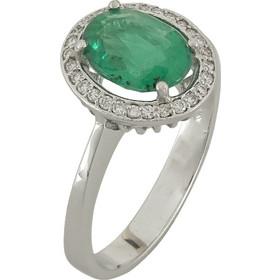 Λευκόχρυσο Δαχτυλίδι Ροζέτα Κ18 με Διαμάντια Brilliant R18686 c913bcec398