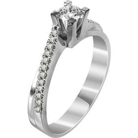 Μονόπετρο Δαχτυλίδι Με Διαμάντια Brilliant Από Λευκόχρυσο Κ18 R22651 6e53d140b10