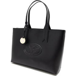 8001aaf9cefc EMPORIO ARMANI WOMAN BAG SHOPPING L MINIDOL+AQUILA BLACK