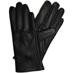 3a10aaf085 Γυναικεία γάντια δερματίνη μαύρα με εσωτερική επένδυση fleece