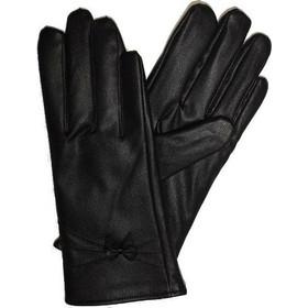 Γυναικεία γάντια δερματίνη μαύρα με εσωτερική επένδυση fleece f7ebaf66d0b
