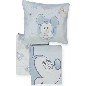 c7fa7c04674 Σεντόνι Βρεφικό Mickey's Dreams Σετ 3τμχ Light Blue Nef-Nef Κούνιας -  120x170cm