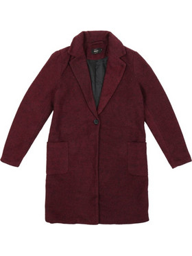7505c3b369 Only Astrid Marble Coat OTW 15158909 Μπορντώ