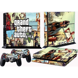 Πλήρες σετ αυτοκόλλητων PS4 GTA V FULL BODY Accessory Wrap Sticker Skin Cover Decal για PS4 Playstation 4 (OEM)