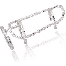 Ασημένιο Δαχτυλίδι με Αλυσίδα και Μικρούς Κύκλους fafdbd883ea