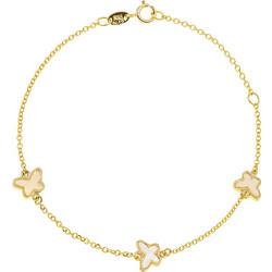 Βραχιόλι από χρυσό 14 καρατίων με πεταλούδες με φίλντισι. BD21675 900ff2b19cc