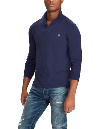 0be176d79907 Polo Ralph Lauren ανδρική μπλούζα μακρυμάνικη πόλο μονόχρωμη - 710680790004  - Μπλε Σκούρο