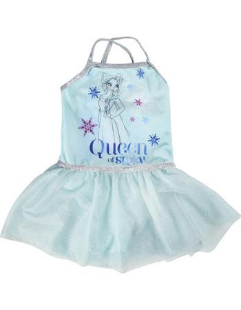 Παιδικό Μαγιό Ολόσωμο-Φόρεμα Έλσα Frozen Πράσινο Χρώμα Disney b152d12beef