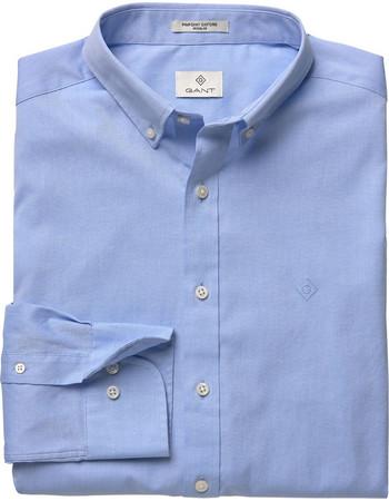 Gant ανδρικό πουκάμισο Pinpoint Oxford Shirt - 303000 - Γαλάζιο f2ad78345c9