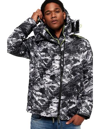 Superdry Arctic Hooded Print Pop Zip SD-Windcheater Jacket M50000CR-UK5 af5ec0bd296