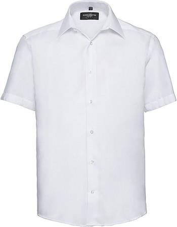 1311d0cb675e Ανδρικό κοντομάνικο πουκάμισο Non-iron Russell R-959M-0 - White