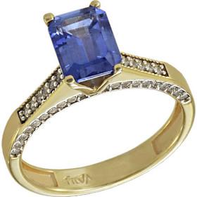 Δαχτυλίδι μονόπετρο χρυσό 14 καράτια με ορυκτό μπλε ζαφείρι swarovski(R) 9d3e2ebf30b