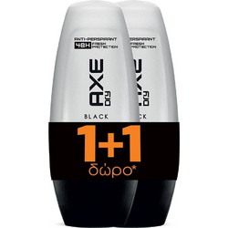 Axe Black Roll On 2x50ml