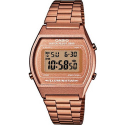 Casio Collection Retro Rosegold Stainless Steel Bracelet B-640WC-5AEF