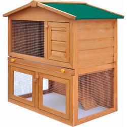 c592798b5dc5 vidaXL Κλουβί Κουνελιών Σπίτι Μικρών Ζώων Εξωτ. Χώρου 3 Πόρτες Ξύλινο