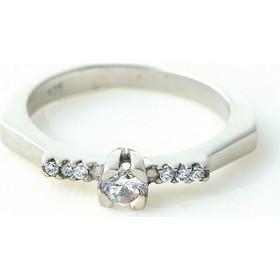 Aetoma Ασημένιο μονόπετρο δαχτυλίδι με μικρά λευκά ζιργκόν 1d9a15882d8