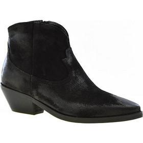 ae8628288d Makis Fardoulis γυναικεία μποτάκια Cowboy χαμηλά 4102 μαύρο δέρμα καστόρι