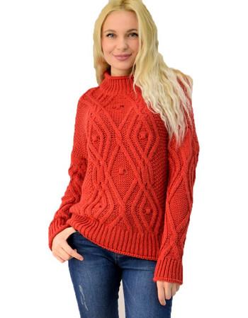 80a5743c25ed Γυναικείο πλεκτό πουλόβερ με πλεξούδα. Potre