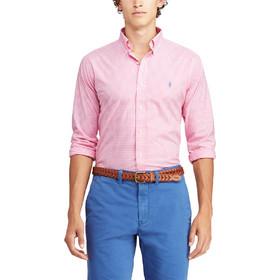 3eb69b12c64 Polo Ralph Lauren ανδρικό πουκάμισο με μικροσχέδιο καρό Classic Fit Gingham  - 710744243006 - Ροζ