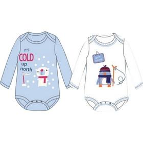 Pretty baby 34458 ζιπουνάκια 2 τμχ. μακρυμάνικα Γαλάζιο Pretty Baby 03d8123718b