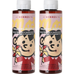 Korres Wash Me Berries Παιδικό Σαμπουάν   Αφρόλουτρο 2x250ml d707ed604ba
