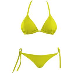 Φωτεινό κίτρινο σετ μαγιό τριγωνάκι cup B με brazilian slip Angel Mare 027 8a0f7bab8f6
