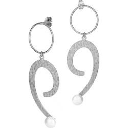 Χειροποίητα ασημένια σκουλαρίκια 925 με μαργαριτάρια και επιπλατίνωμα SK -0236L1 6ad9e31ac73