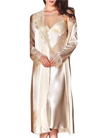 4a09ee225d92 FMS Γυναικείο Νυφικό Σετ Νυχτικό-Ρόμπα 451 Χρυσό