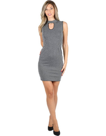 Φόρεμα εφαρμοστό με άνοιγμα στην πλάτη Γκρι - Γκρι bd6b13dc023