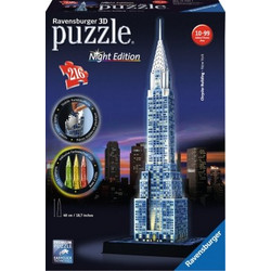 RAVENSBURGER PUZZLE 3D CRYSTLER BUILDING NIGHT EDITION (12595)
