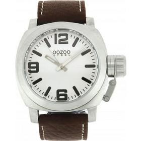 Oozoo Steel XL Brown Leather Strap OS19 035f551ef51
